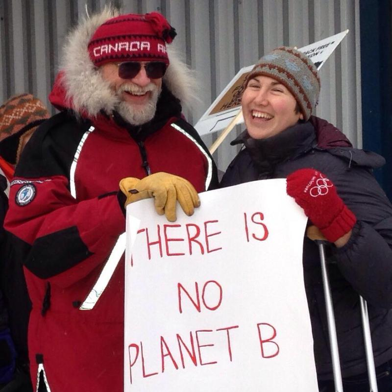 With my Dad: climate is a family affair in my household.