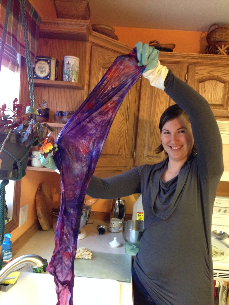 Hand-dyed-silk-scarf