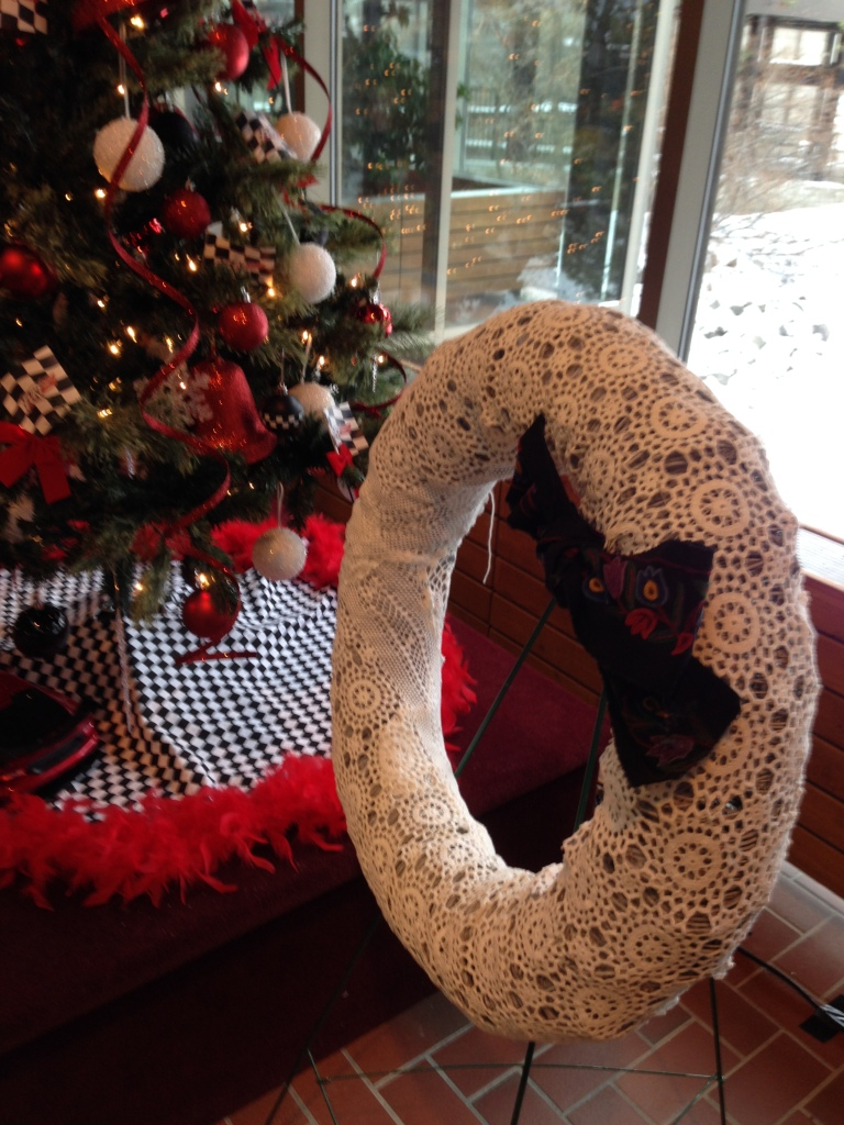 Yarn-Bombed-Christmas-Wreath